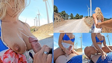 Modelhub yummy-couple HUGE Cumshot On Nice Tits On A Windy Mountain Top - Cute MILF Fuck + Cum  WEB-DL 1080p 4k Siterip Clip Siterip