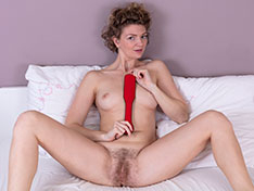 Philippa Philippa has fun in bed with her red whip Siterip INFO