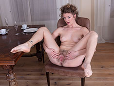 Philippa Philippa strips nude by her dining room table Siterip INFO