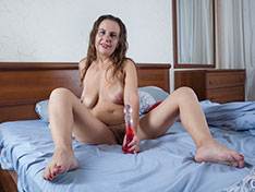 Beatrice A Beatrice A enjoys her red vibrator in bed Siterip INFO